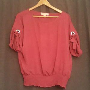 NBW Michael Kors fusia blouse.